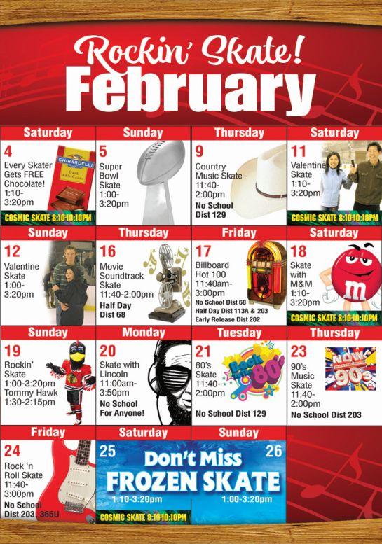 February 2017 Mobile Public Skate Calendar