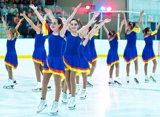 Starfire synchronized Ice skating team