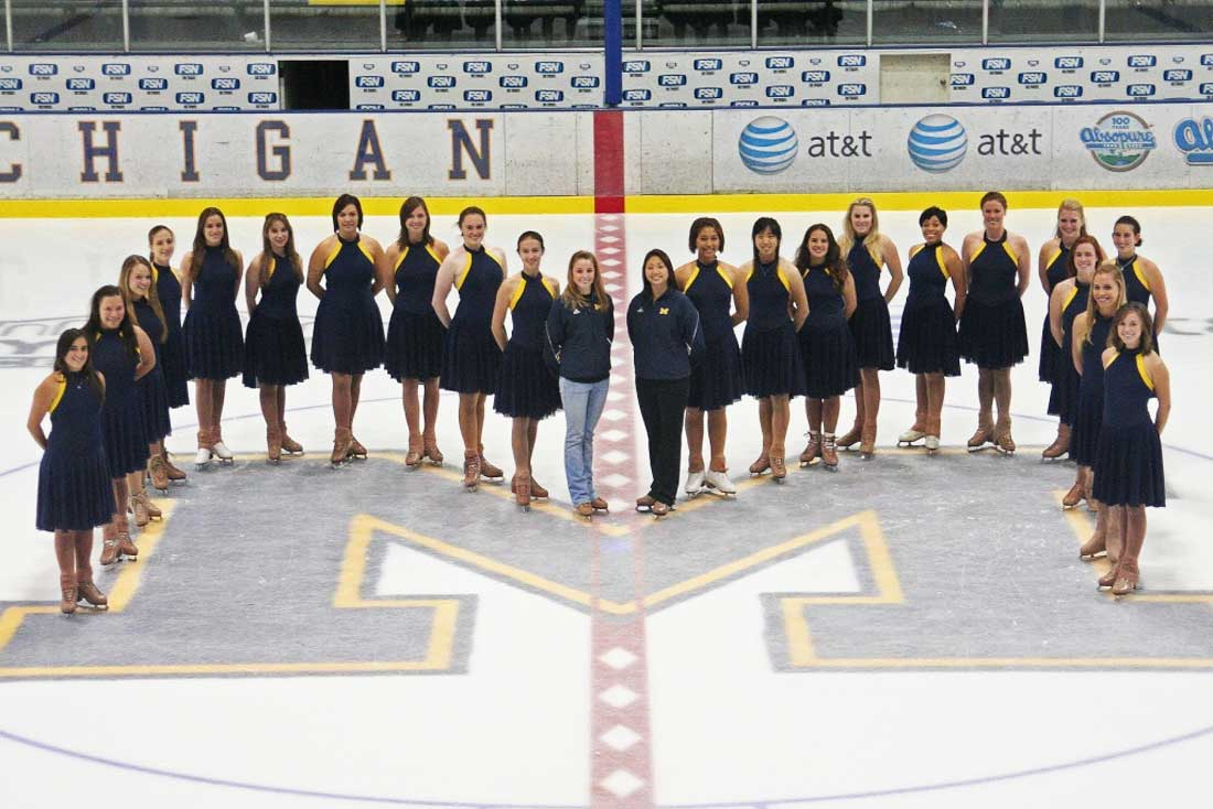 Synchronized skating team of University of Michigan
