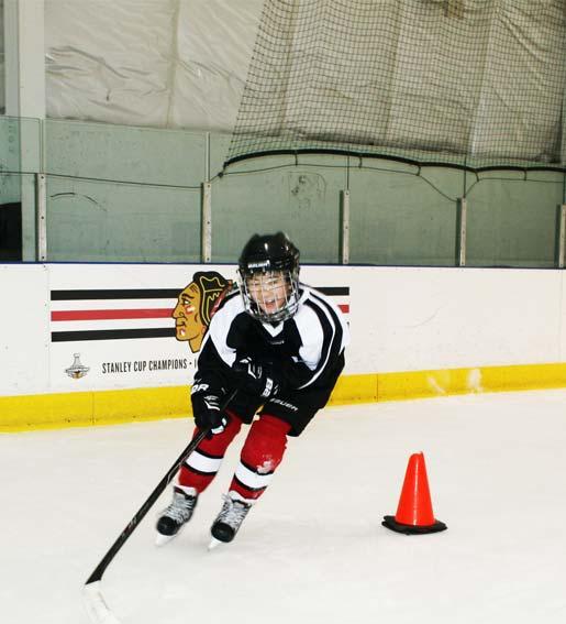 Hockey Lessons Cone Drills at Rocket Ice Skating Rink
