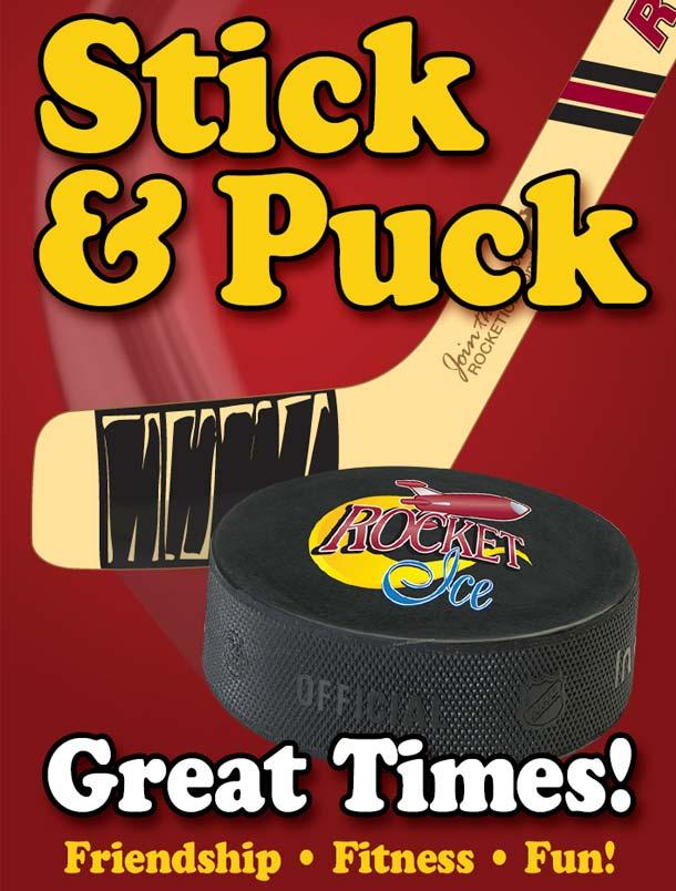 Rocket Ice hockey training poster.