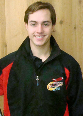 Justin Pirard is one of the hockey instructors at Rocket Ice.
