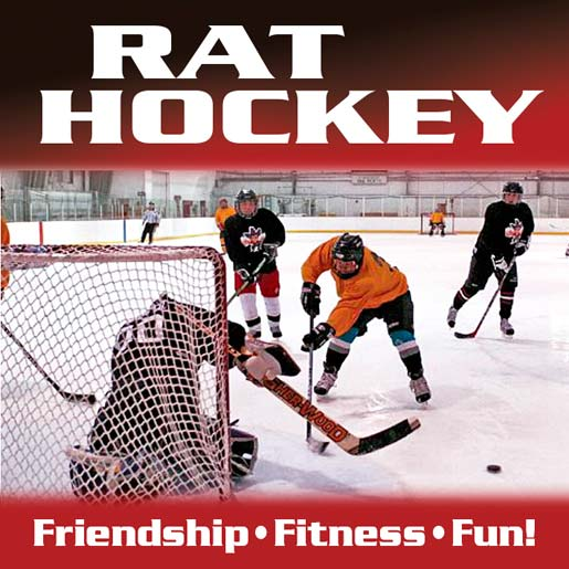 Rat Hockey flyer for Rocket Ice Skating Rink.