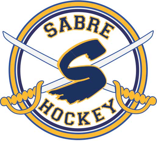 Logo for the Sabre Youth Hockey association.