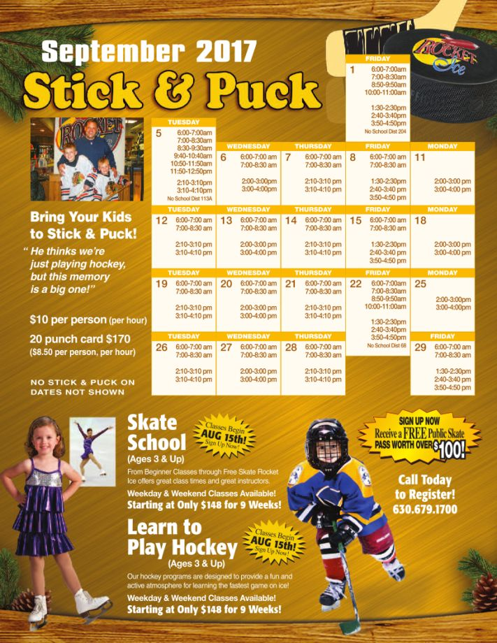 September 2017 Stick & Puck Calendar