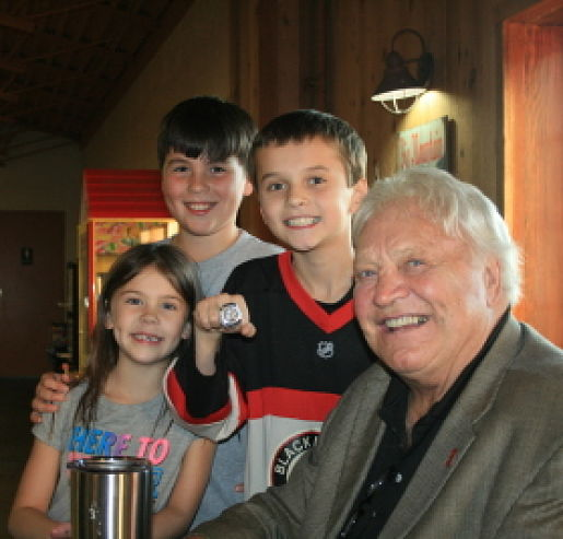 3 Kids with Bobby Hull