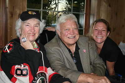 Bobby Hull and Blackhawk Fan